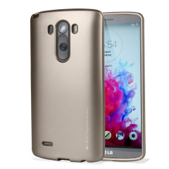 Funda LG G3 Mercury iJelly Gel - Oro Metalizado