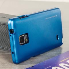 Mercury Metallic Silicone Finish Hard Case -Samsung Galaxy Note 4 Blue