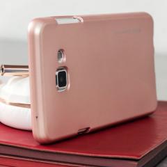 Mercury iJelly Metallic Case Samsung Galaxy A7 Rose Gold