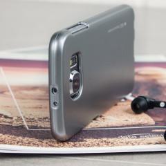 Mercury Goospery iJelly Samsung Galaxy S6 Gel Hülle Metallic Grau