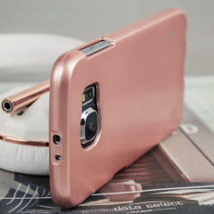A premium gel case for your Galaxy S6. The Mercury Goospery iJelly features a superb metallic rose gold gloss UV finish and robust high quality TPU gel material that will take all the knocks and look fabulous while doing so.