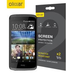 Olixar HTC Desire 526 Displayschutz 2-in-1 Pack