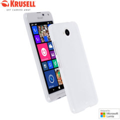 Krusell Boden Microsoft Lumia 650 Case Hülle in Frost Weiß
