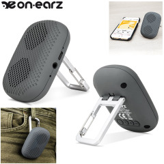 OnEarz Ultra Portable Clip & Go Bluetooth Lautsprecher in Grau
