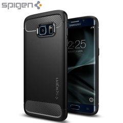 Spigen Rugged Armor Samsung Galaxy S7 Edge Tough Case Hülle in Schwarz