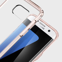 Beskytt baksiden og sidene på din Samsung Galaxy S7 Edge uten at påvirke designens dynamikk med dekslet Ultra Hybrid fra Spigen.