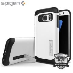 Spigen Slim Armor Case Samsung Galaxy S7 Edge Hülle in Shimmery Weiß