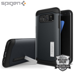 Spigen Slim Armor Case Samsung Galaxy S7 Edge Hülle in Metal Slate