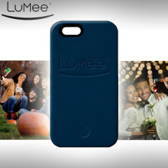 LuMee iPhone 6S / 6 Selfie Light Case Hülle in Navy Blau