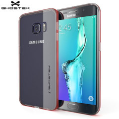 Ghostek Cloak Samsung Galaxy S6 Edge Plus Tough Hülle in Klar / Rot