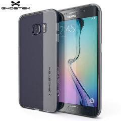 Ghostek Cloak Samsung Galaxy S6 Edge Tough Case - Clear / Dark Blue