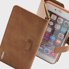 Prodigee Legacee iPhone 6S Plus / 6 Plus ECO-läderfodral & skal - Brun