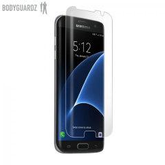 Mantenga la pantalla de su Samsung Galaxy S7 Edge a salvo de arañazos gracias a este protector de pantalla BodyGuardz fabricado del mismo material que tienen los coches en los parachoques.