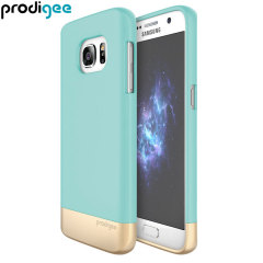 Prodigee Accent Samsung Galaxy S7 Case Hülle Aqua / Gold