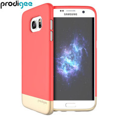 Prodigee Accent Samsung Galaxy S7 Edge Case Hülle Blush / Gold