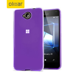 Custom moulded for the Microsoft Lumia 650, this purple Olixar FlexiShield case provides slim fitting and durable protection against damage.