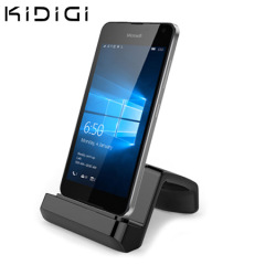 Synchronise and charge your Microsoft Lumia 650 with this stylish and case compatible desktop dock which also acts as a multimedia stand from Kidigi.
