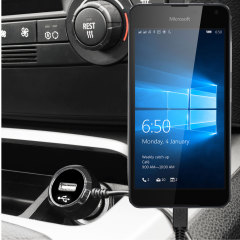 Keep your Microsoft Lumia 650 fully charged on the road with this high power 2.4A Car Charger, featuring extendable spiral cord design. As an added bonus, you can charge an additional USB device from the built-in USB port!
