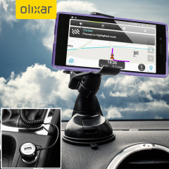 Essential items you need for your smartphone during a car journey all within the Olixar DriveTime In-Car Pack. Featuring a robust one-handed phone car mount and car charger with an additional USB port for your Sony Xperia Z5.