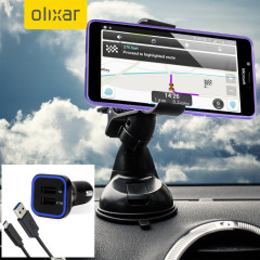 Essential items you need for your smartphone during a car journey all within the Olixar DriveTime In-Car Pack. Featuring a robust one-handed phone car mount and car charger with an additional USB port for your Microsoft Lumia 950 XL.