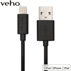 Make sure your Lightning devices are always fully charged with the Veho Charge & Sync Lightning to USB Cable in black for Apple Lightning compatible devices. This cable is certified MFi by Apple for use with their products.