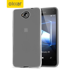 Custom moulded for the Microsoft Lumia 650, this frost white Olixar FlexiShield case provides slim fitting and durable protection against damage.