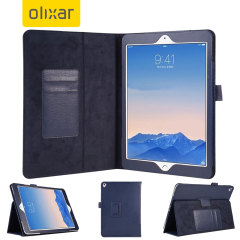 Olixar iPad Pro 9.7 inch Leather-Style Stand Case - Blue