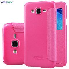 Nillkin Sparkle Samsung Galaxy J5 2015 View Flip Case - Pink
