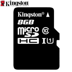 Tarjeta Micro SD Kingston Digital Clase 10 con Adaptador a SD - 8GB