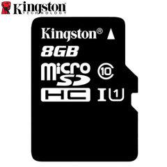 Tarjeta Micro SD Kingston Digital Clase 10 con Adaptador a SD - 8GB