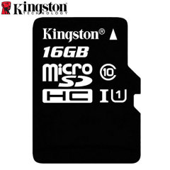Tarjeta Micro SD Kingston Digital Clase 10 con Adaptador a SD - 16GB