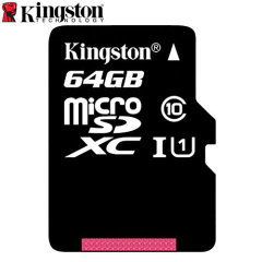 Tarjeta Micro SD Kingston Digital Clase 10 con Adaptador a SD - 64GB