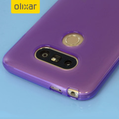 Custom moulded for the LG G5 this purple FlexiShield case by Olixar provides slim fitting and durable protection against damage.