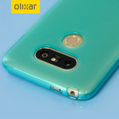 Custom moulded for the LG G5 this blue FlexiShield case by Olixar provides slim fitting and durable protection against damage.
