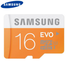 Full HD compliant Class 10 performance Micro SD Card. The 16GB Samsung Micro SDHC Evo GoPro Memory card safely and effectively stores all of your precious images and videos.