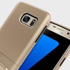 Seidio SURFACE Samsung Galaxy S7 Case & Metal Kickstand - Gold/Black