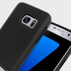 Seidio SURFACE Samsung Galaxy S7 Hülle mit Standfuß in Schwarz