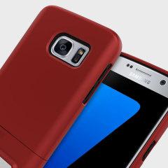Seidio SURFACE Samsung Galaxy S7 Hülle mit Standfuß in Rot / Schwarz