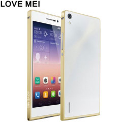 The Love Mei Ultra Aluminium Bumper provides complete all round edge protection for your Huawei P7 without compromising its looks.