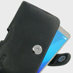 PDair Horizontal Leather Huawei Honor 5X Pouch Case - Black