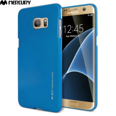Mercury Goospery iJelly Samsung Galaxy S7 Edge Gel Hülle Metallic Blau
