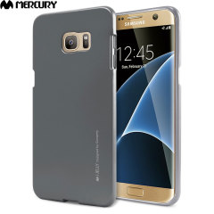 Mercury iJelly Samsung Galaxy S7 Edge Gel Case - Metallic Grey