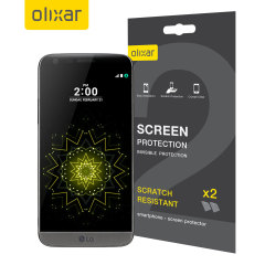 Keep your LG G5's screen in pristine condition with this Olixar scratch-resistant screen protector 2-in-1 pack. Ultra responsive and easy to apply, these screen protectors are the ideal way to keep your display looking brand new.