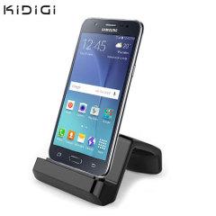 Chargez et synchronisez votre Samsung Galaxy J5 avec ce chargeur bureau élégant, faisant aussi office de support.