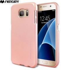Mercury Goospery Jelly Samsung Galaxy S7 Gel Case Hülle Metallic Rose