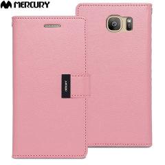 Mercury Rich Diary Samsung Galaxy S7 Premium Wallet Case Tasche Pink