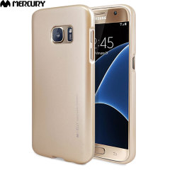 Mercury Goospery Jelly Samsung Galaxy S7 Gel Case Hülle Metallic Gold