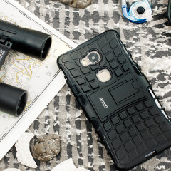 Protect your Huawei Honor 5X from bumps and scrapes with this black ArmourDillo case. Comprised of an inner TPU case and an outer impact-resistant exoskeleton, the ArmourDillo not only offers sturdy and robust protection, but also a sleek modern styling.