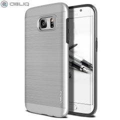 Skydda din Samsung Galaxy S7 Edge med Obliq Slim Meta - serien och skalet i satin silver som skyddar samt ger en fantastisk skydd i en attraktiv tonad design.