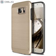 Obliq Slim Meta Samsung Galaxy S7 Edge skal - Champagneguld